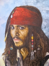 Captain Jack Sparrow 2 gespielt von Johnny Depp in dem Film Fluch der Karibik 2
