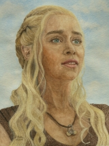 Daenerys Targaryen gespielt von Emilia Clarke in der Serie Game of Thrones